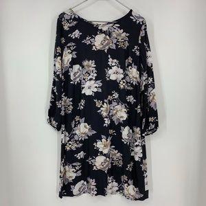 Old Navy large floral zip up shift dress